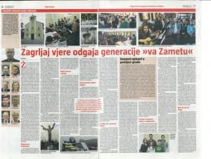 Reportaža o životu župe Zamet, objavljena u Glasu koncila od 15.11.2015.