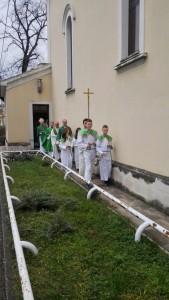 Ulazna procesija, pohod nadbiskupa župi Zamet, 31.01.2016