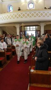 Ulaz, pohod nadbiskupa župi Zamet, 31.01.2016